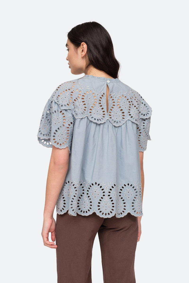 Glacier - Marina Blouse Back View 2