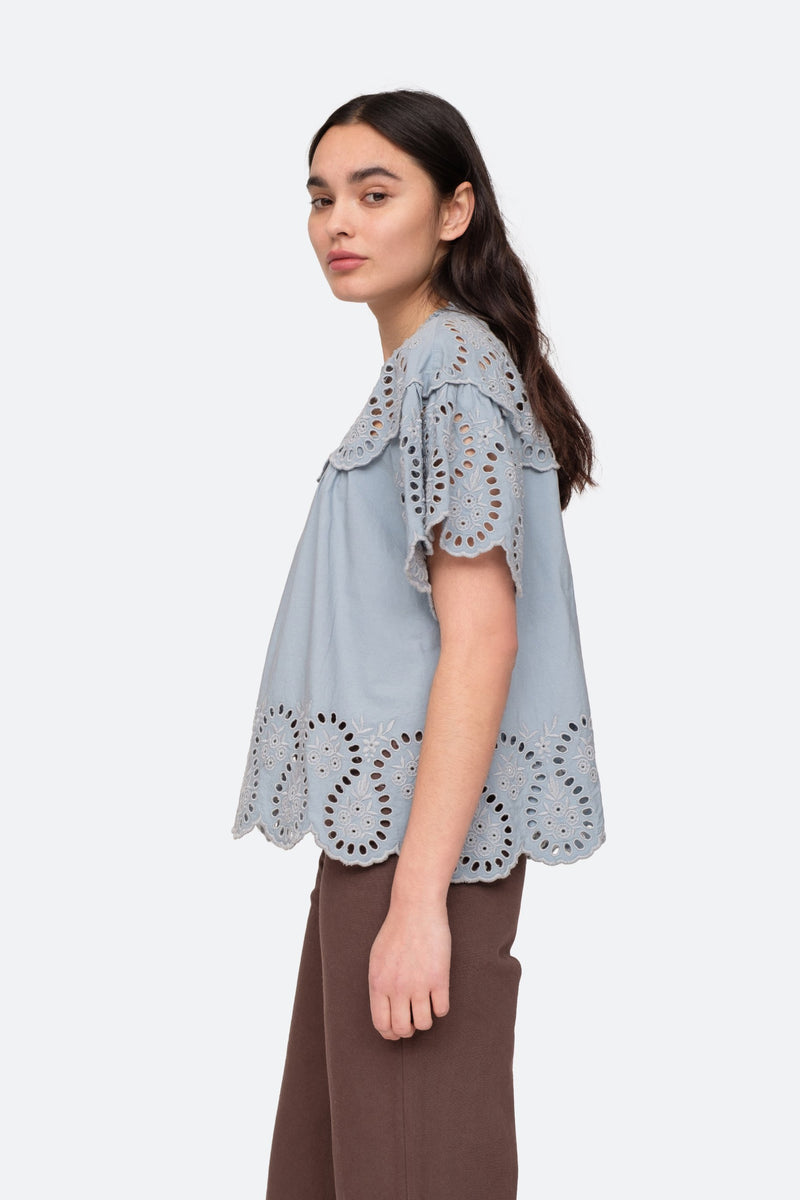 Glacier - Marina Blouse Side View 3