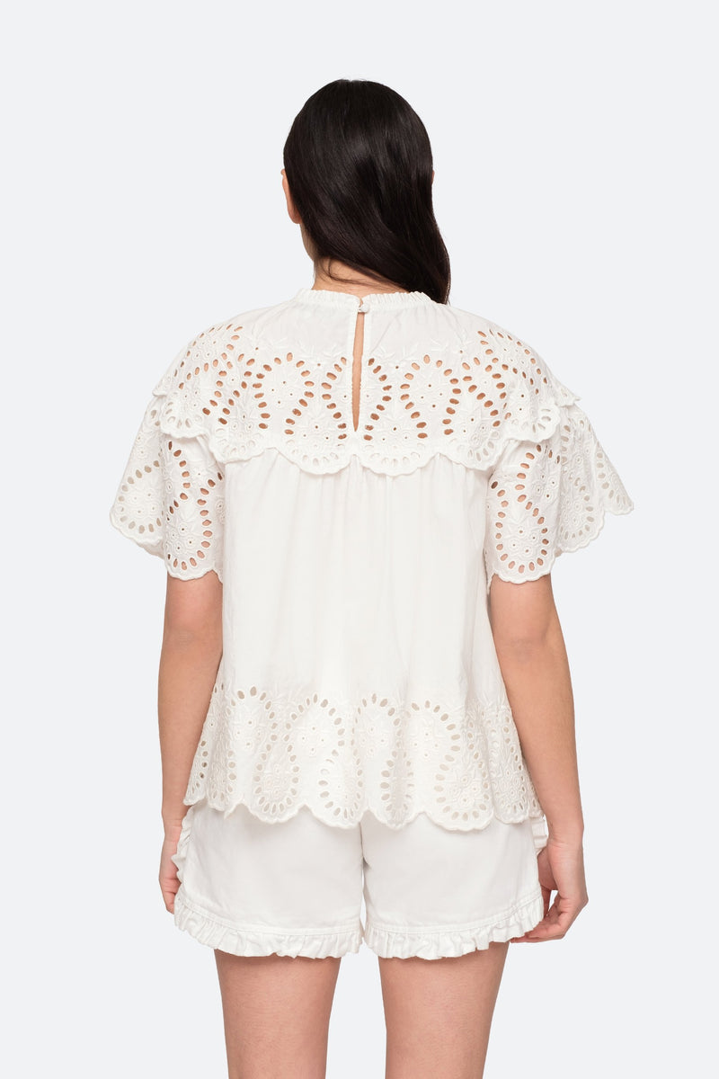 White - Marina Blouse Back View 6