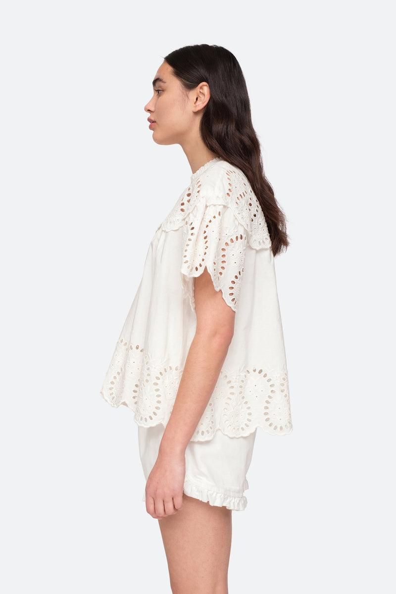 White - Marina Blouse Side View 7