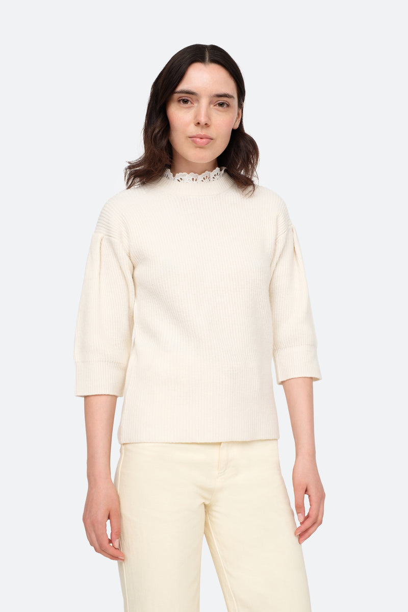 Cream-Nadene Sweater-Front View 1