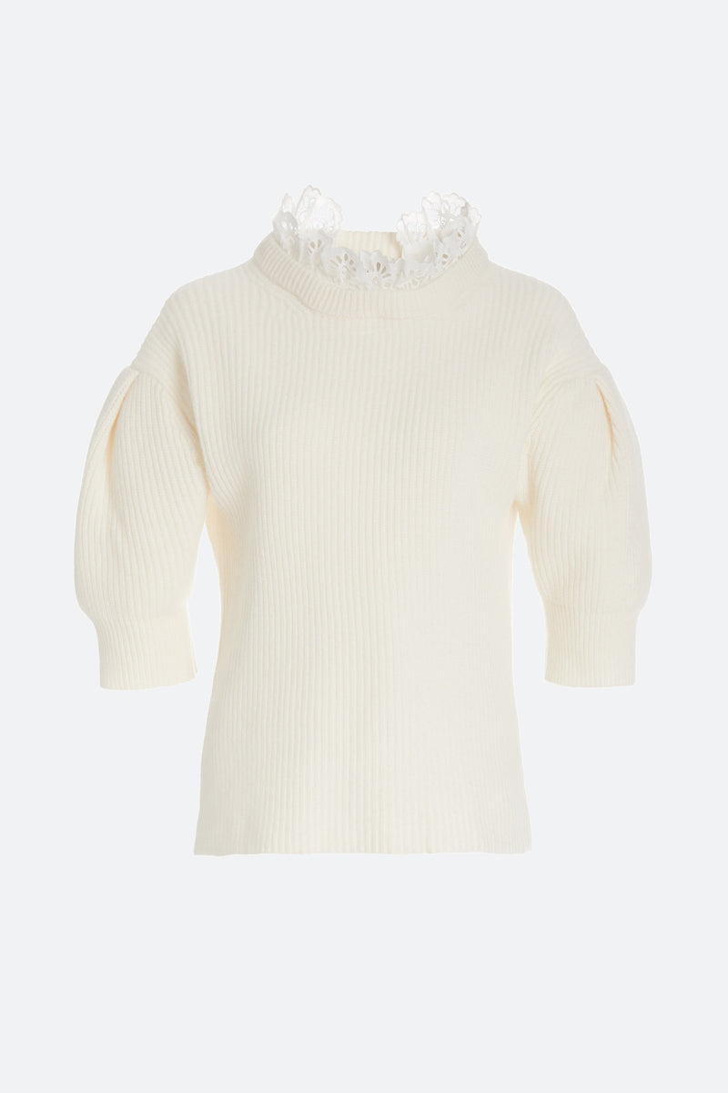 Cream-Nadene Sweater-Flat View 6