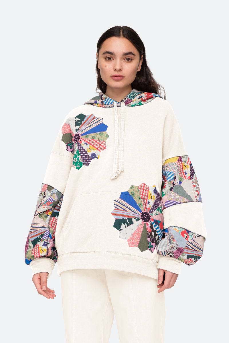 Cream-Paloma Hoodie-Front View 6