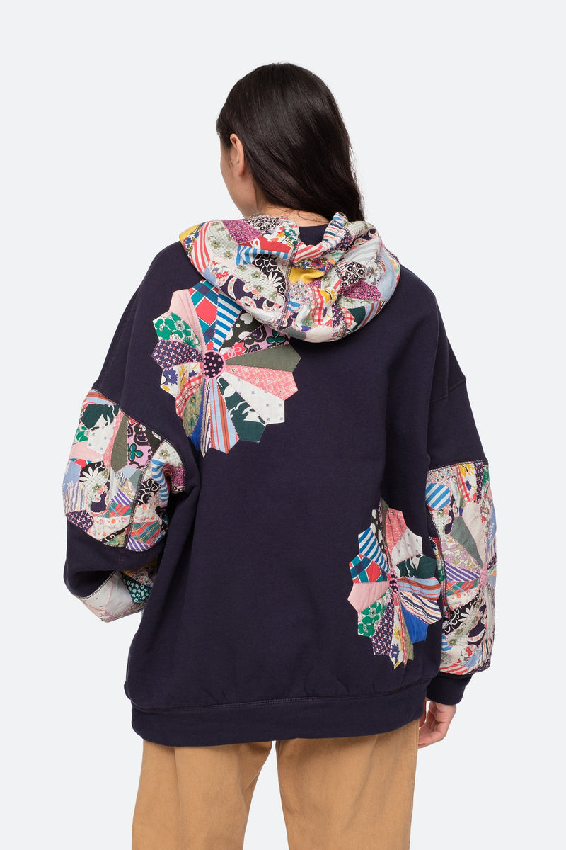 Navy - Paloma Hoodie Back View 2