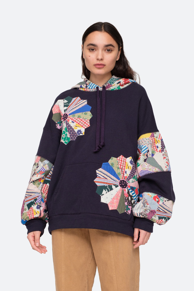Navy - Paloma Hoodie Front View 1