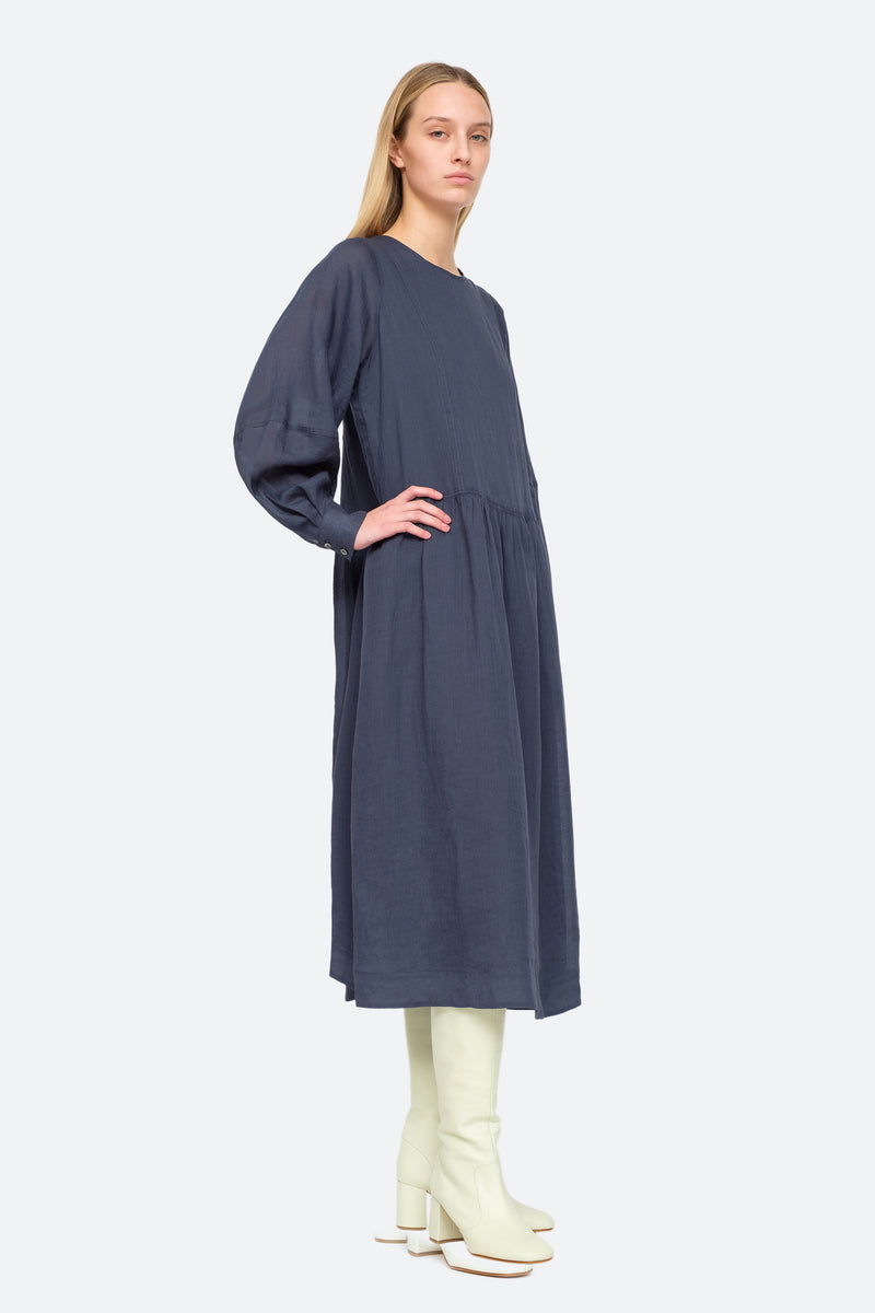 Midnight - Geneva Midi Dress Side View 3