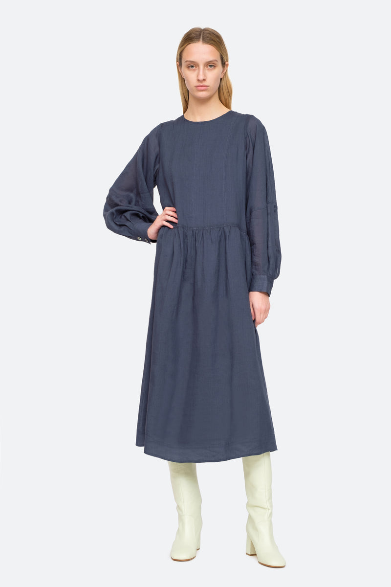 Midnight - Geneva Midi Dress Front View 1