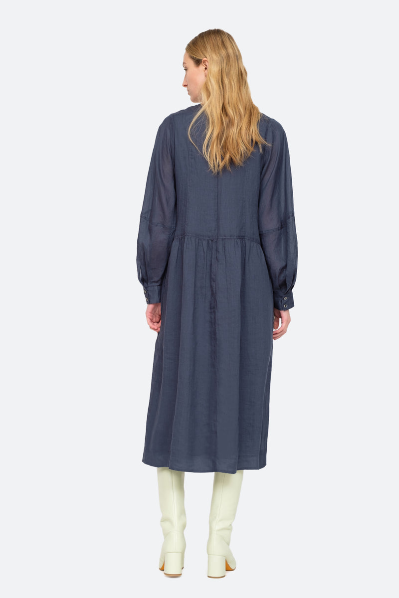 Midnight - Geneva Midi Dress Back View 2