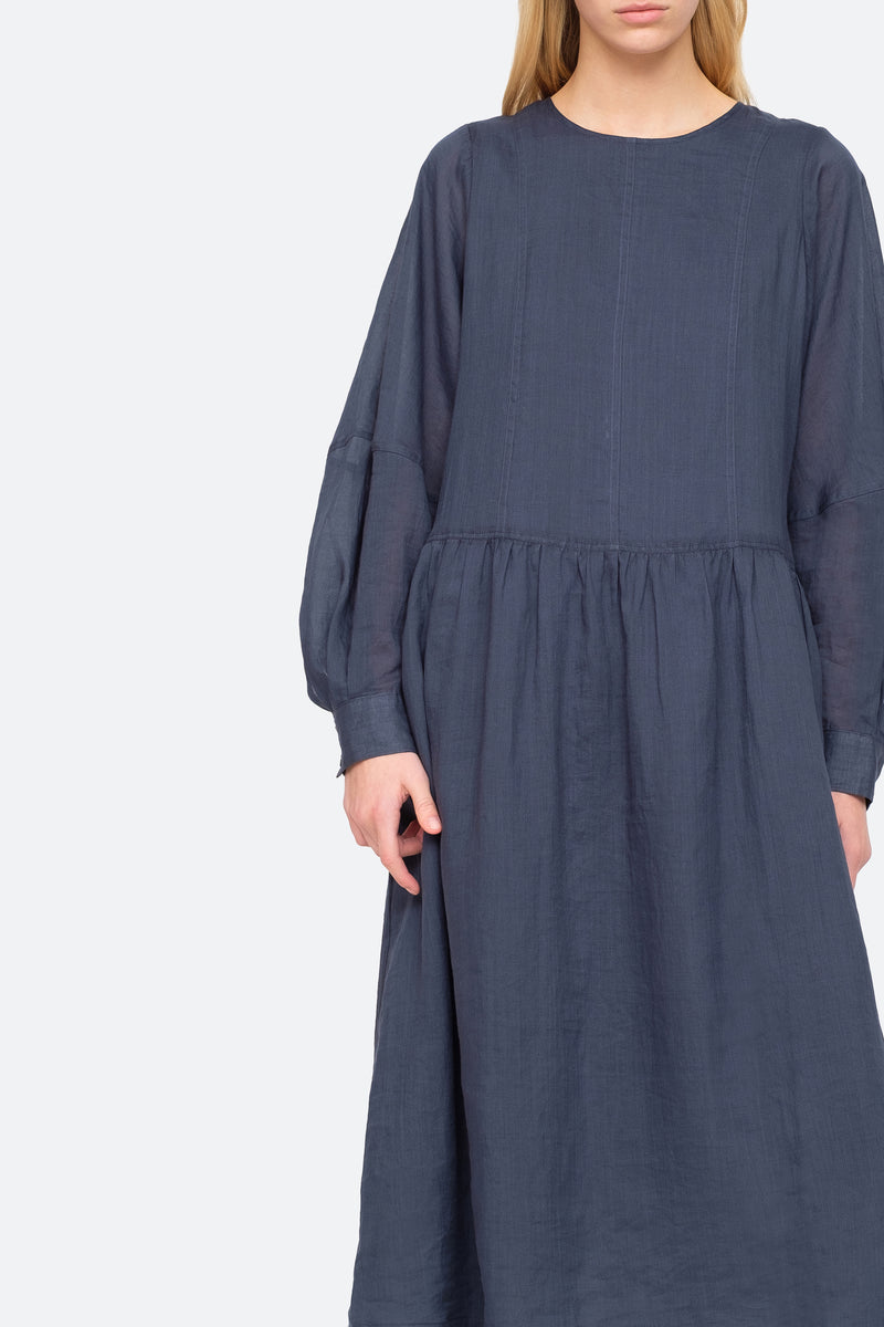 Midnight - Geneva Midi Dress Close View 4