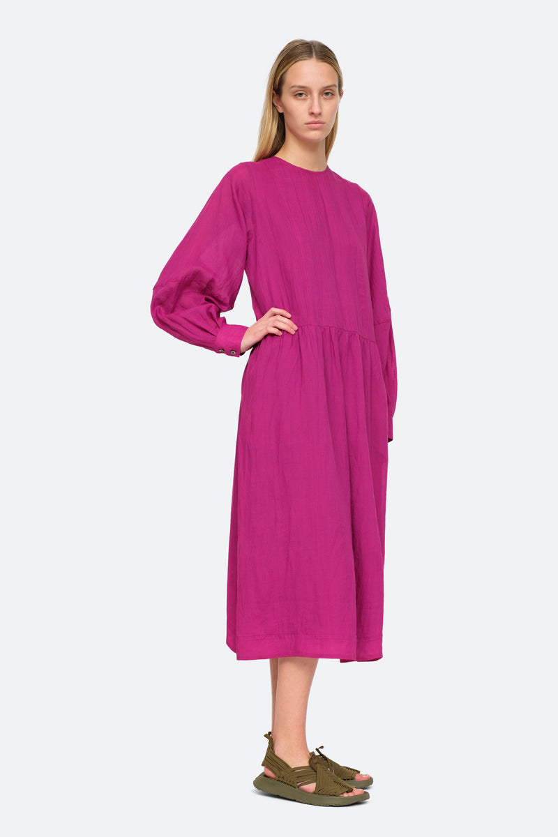 Amethyst - Geneva Midi Dress Side View 7