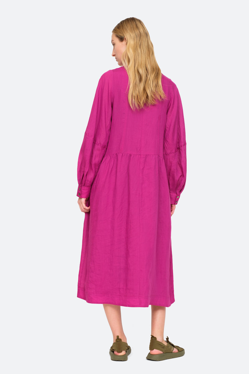 Amethyst - Geneva Midi Dress Back View 6