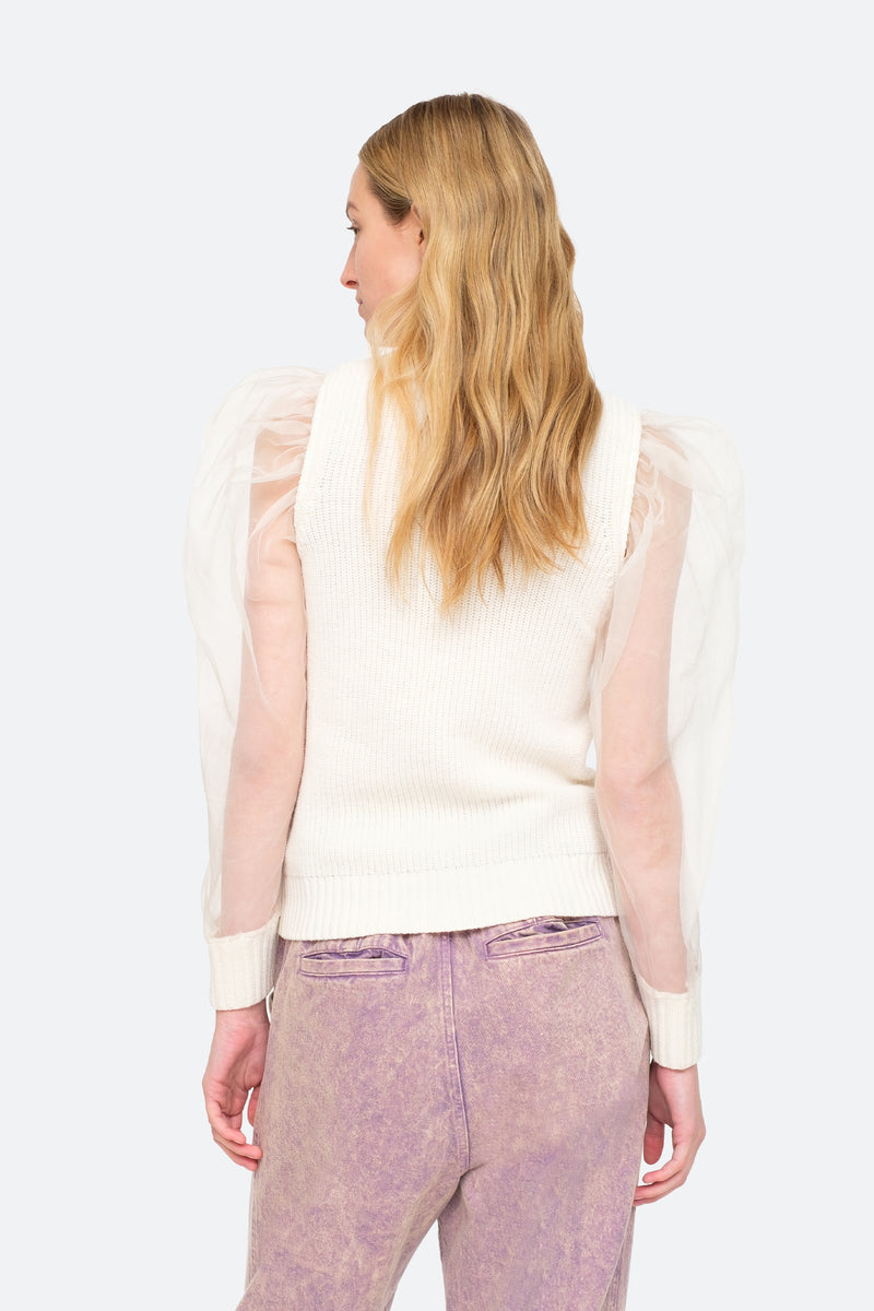 White - James Sweater Back View 2