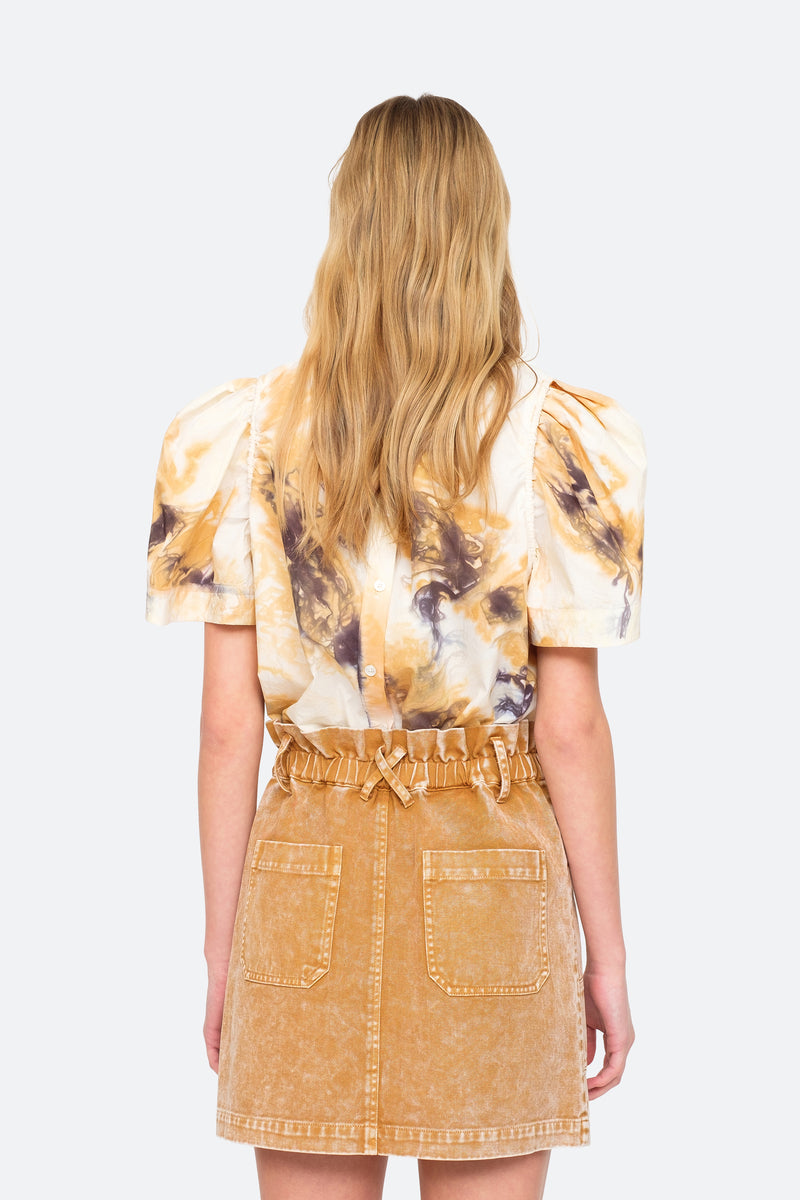 Camel - Tamara S/S Top Back View 4