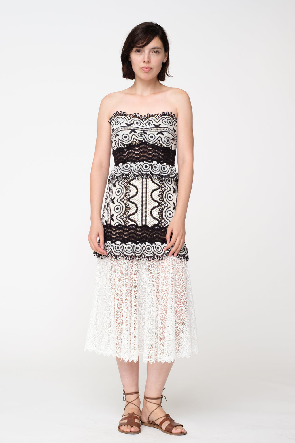 Mosaic Lace Dress