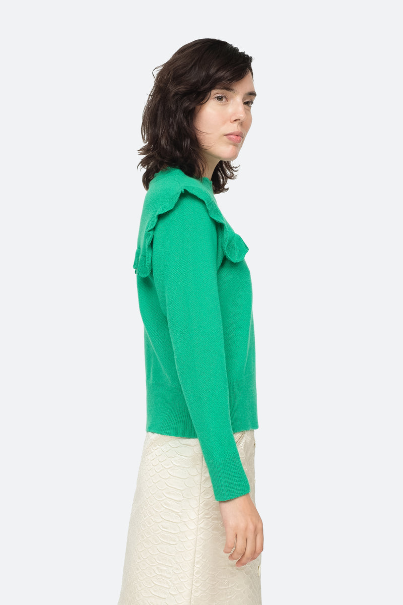 Emerald - Caroline Sweater Side View 3