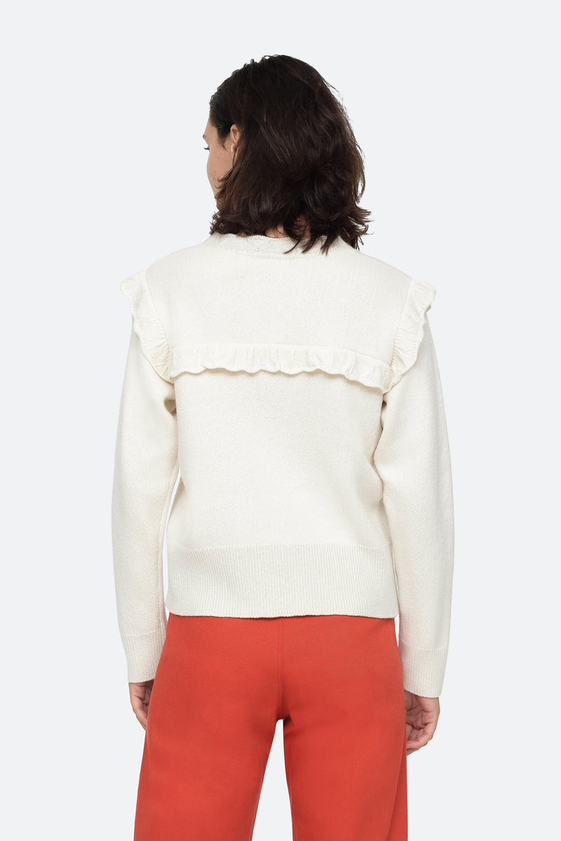Cream - Caroline Sweater Back View 6