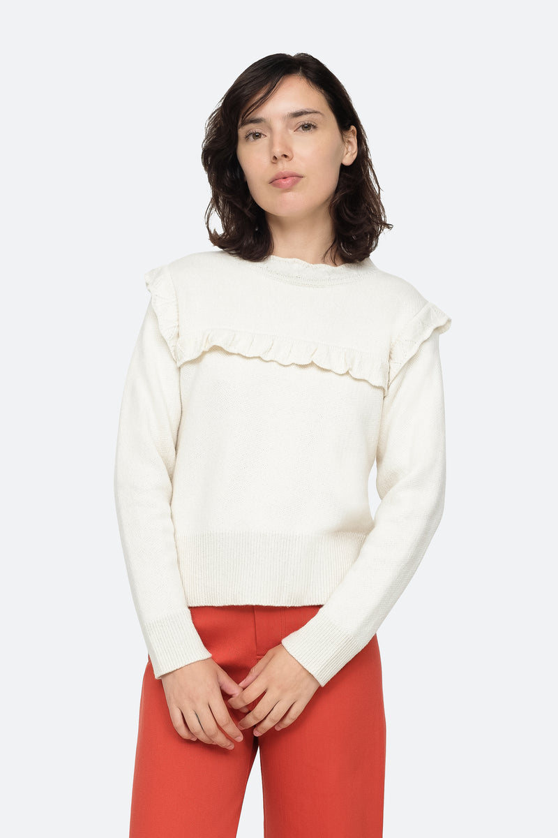 Cream - Caroline Sweater Front View  5
