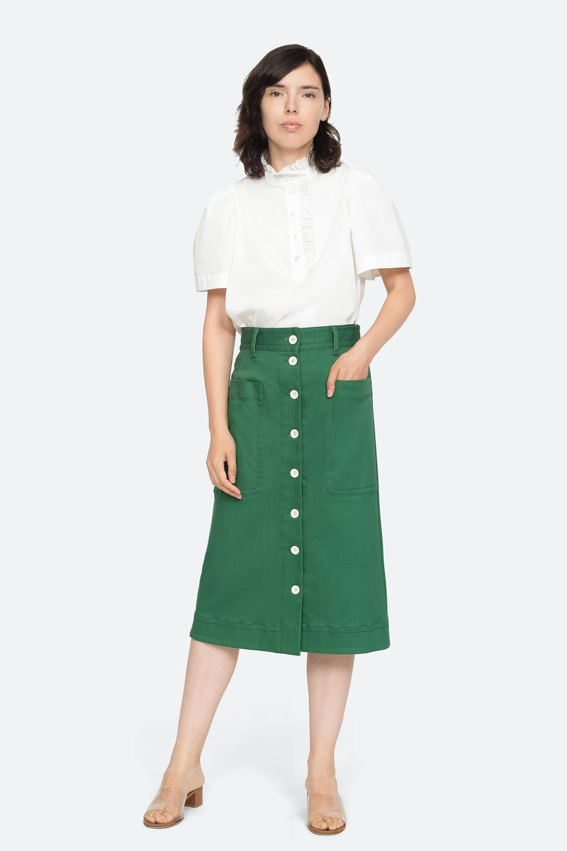 Green - Corbin Skirt Full Body View 6