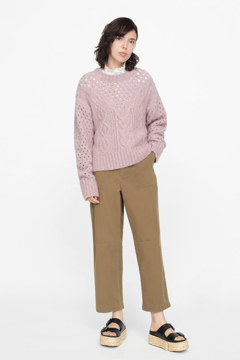 Lavender - Cora Sweater Full Body View 4