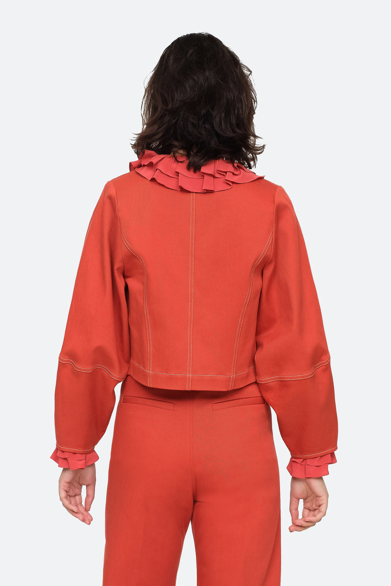 Red - Corbin Jacket Back View 2