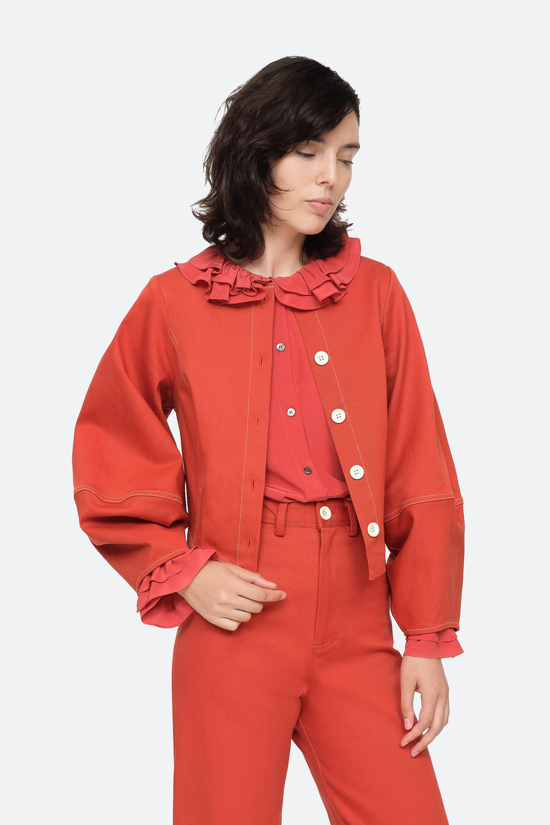 Red - Corbin Jacket Front View 1