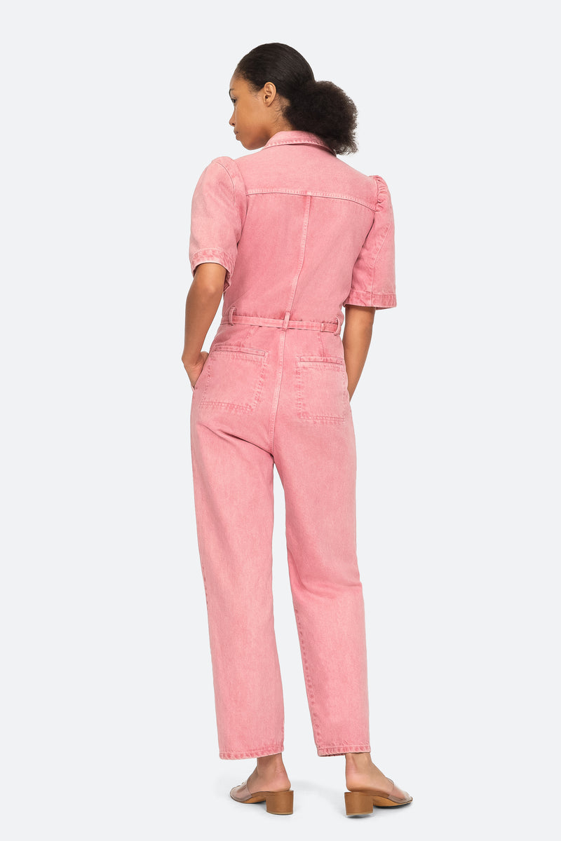 Pink - Corbin Jumpsuit Back View 2