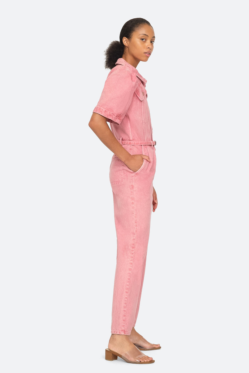 Pink - Corbin Jumpsuit Side View 3