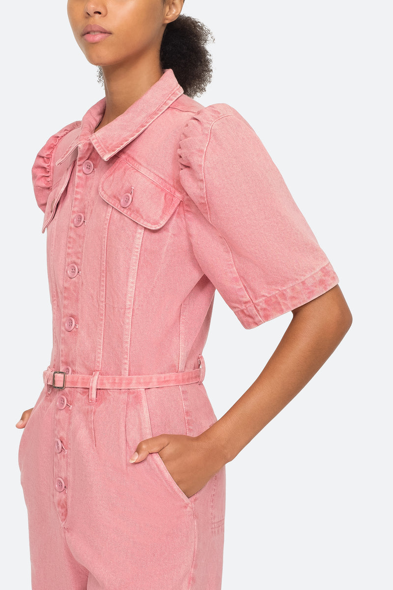 Pink - Corbin Jumpsuit Close View 4