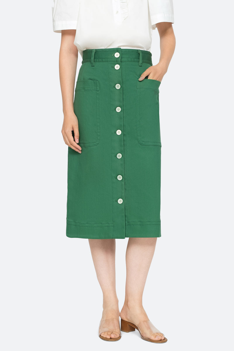 Green - Corbin Skirt Front View 5
