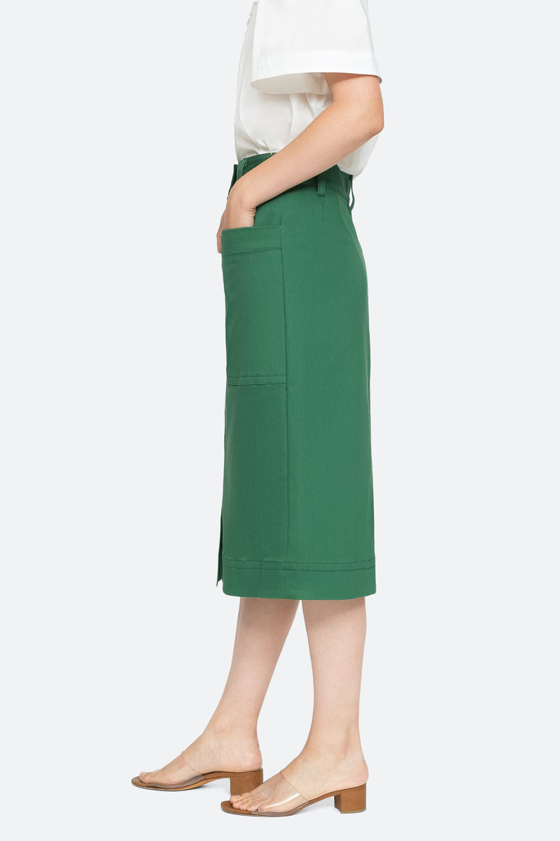 Green - Corbin Skirt Side View 8