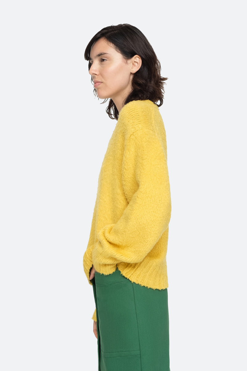Yellow - Fae Sweater Side View 3