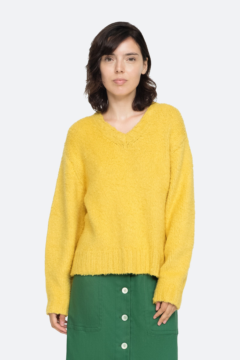 Yellow - Fae Sweater Front View 1