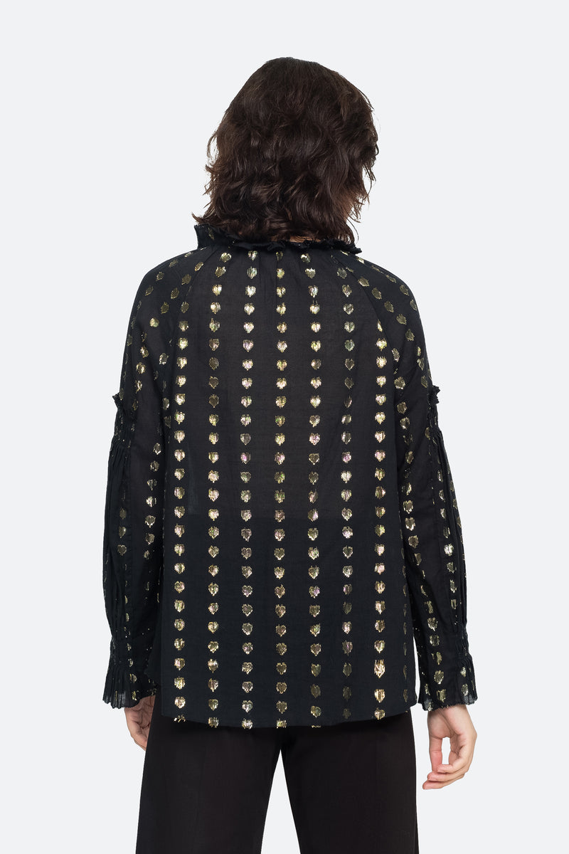 Black - Laura Blouse Back View 2