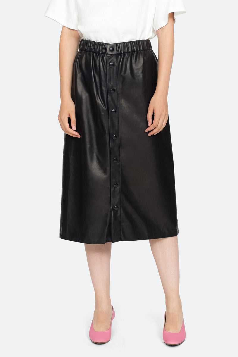 Black - Lydia Skirt Front View 1