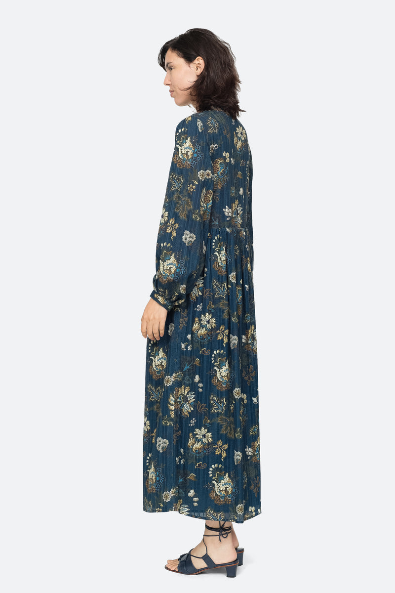 Blue - Pascale Maxi Dress Side View 3