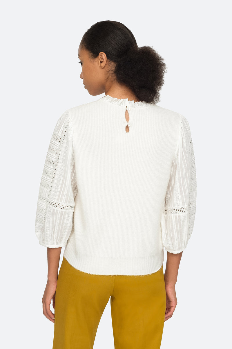 Cream - Pascale Sweater Back View 2