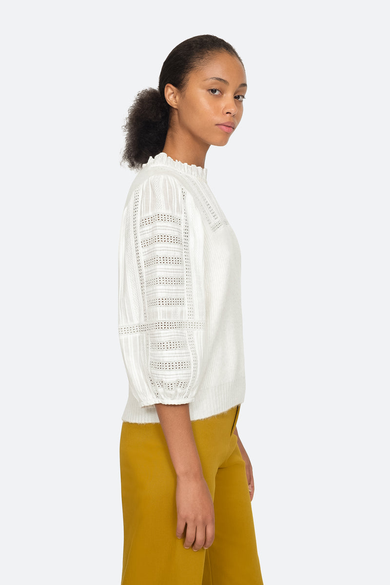 Cream - Pascale Sweater Side View 3