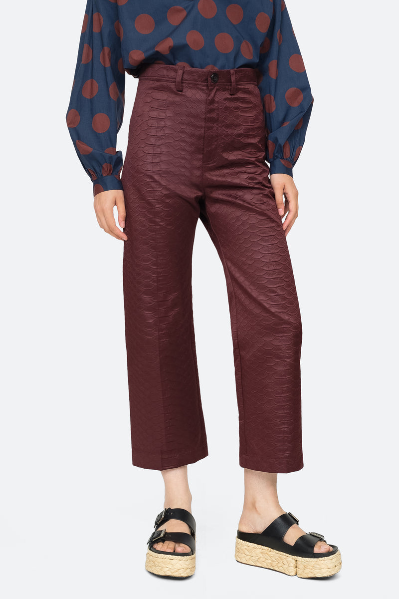 Burgundy - Simon Pant Front View 1