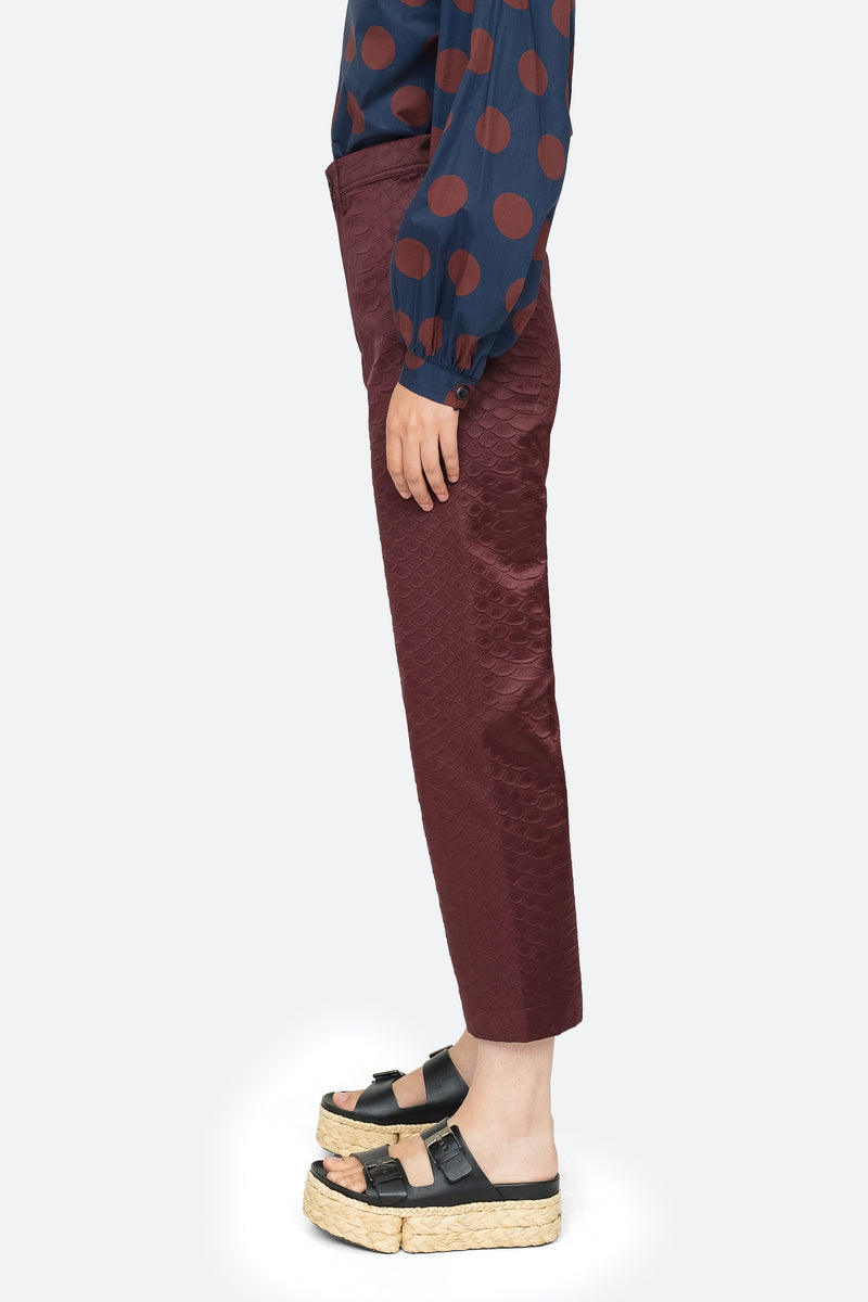 Burgundy - Simon Pant Side View 4