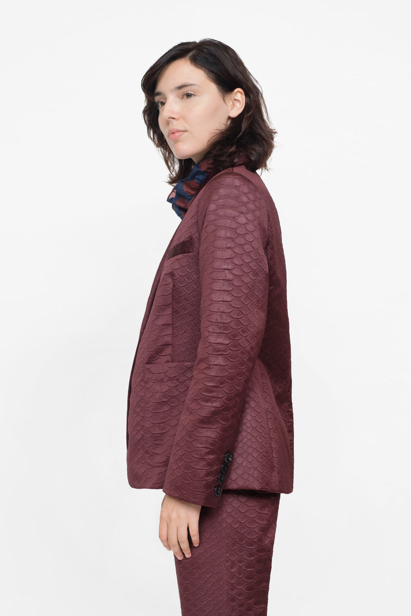Burgundy - Simon Jacket Side View 3