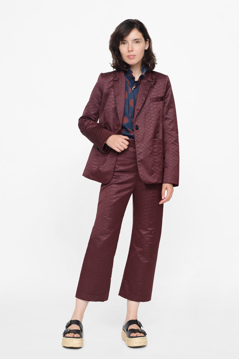 Burgundy - Simon Jacket Full Body View 4
