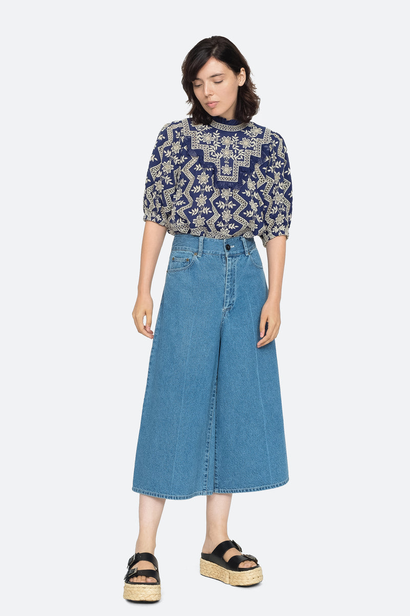 Indigo - Doreen Culotte Full Body View 2