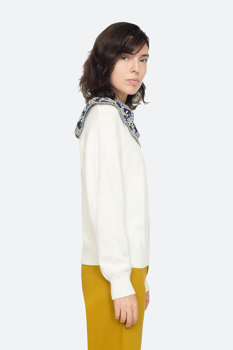 White - Zippy Sweater Side View 8