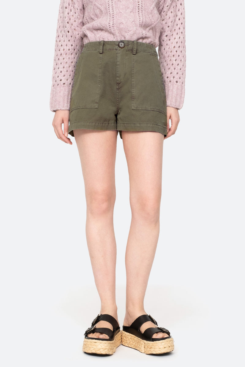 Army - Adalene Shorts Front View 1
