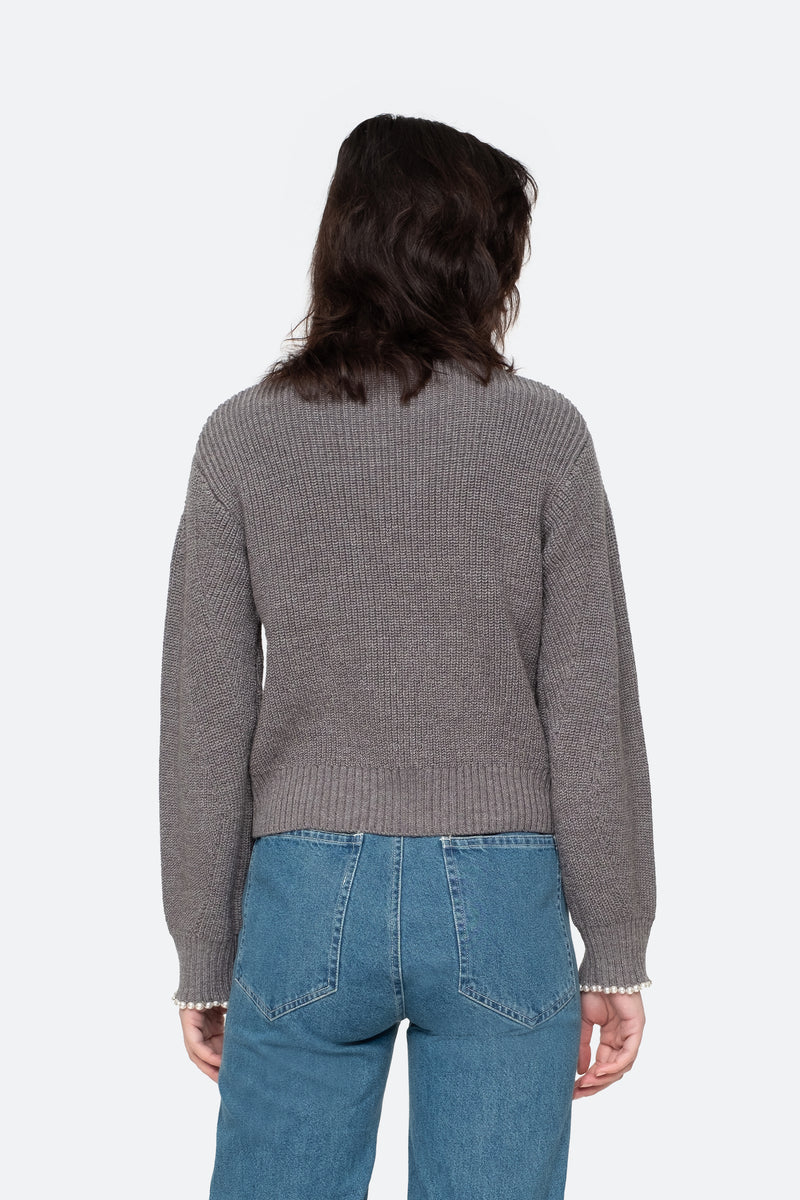 Grey - Charlotte Sweater Back View 6