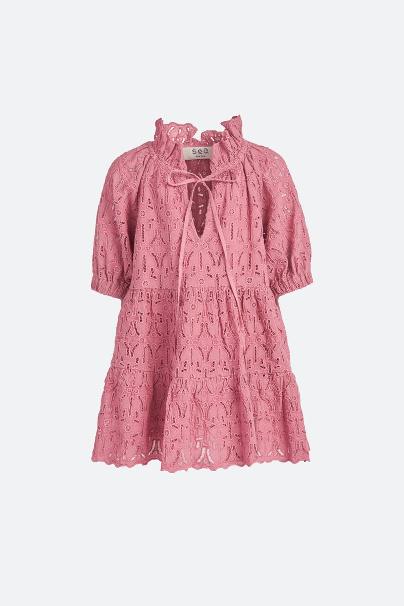 Rose-Iris Kids Dress-Flat View 1