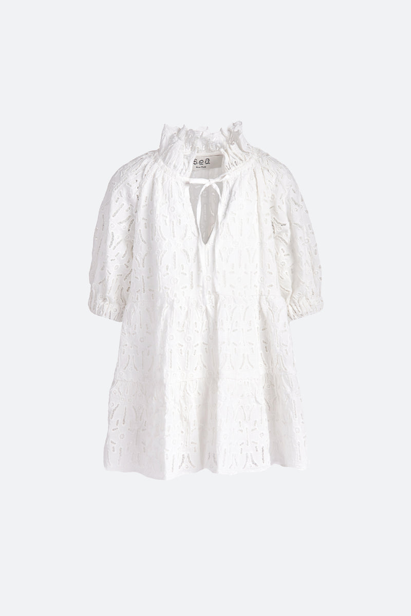 White-Iris Kids Dress-Flat View 2