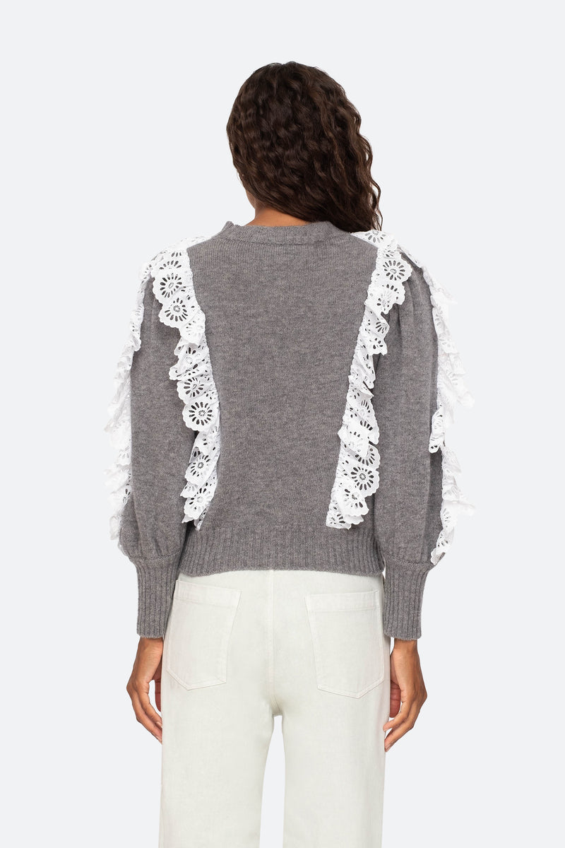 Grey-Elodie Sweater-Back View 2