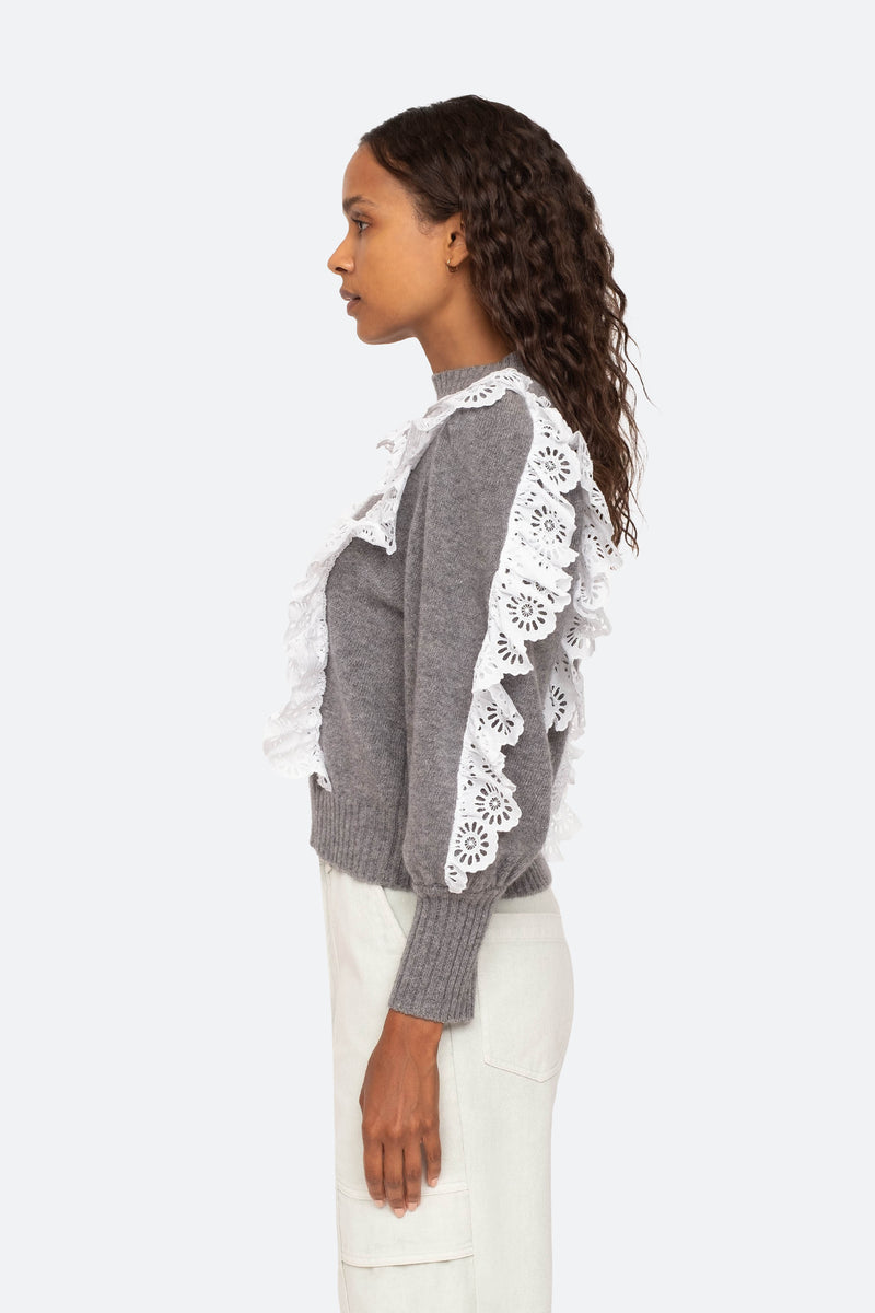 Grey-Elodie Sweater-Side View 3