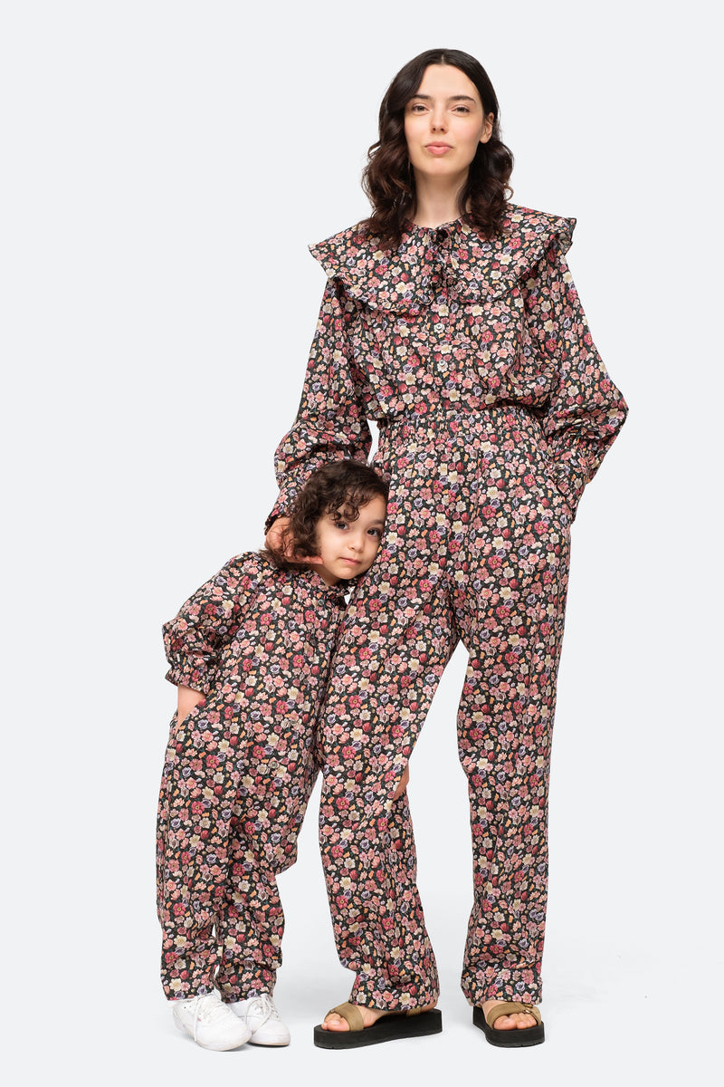 Black-Leslie Kids Jumpsuit-Model View 2